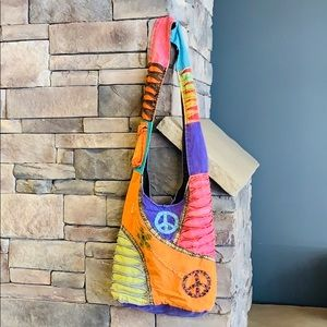 Handbags - Nepal Peace Hippie Satchel | Colorful Flower Bag
